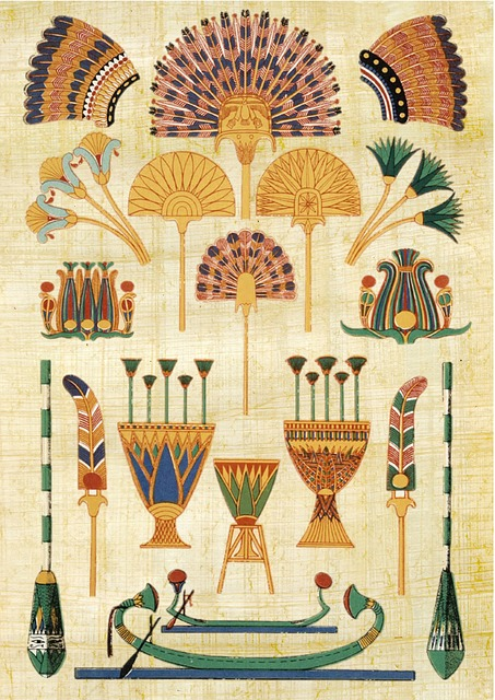 Egyptian, Paper, Papyrus, Hieroglyphs, Design, Artifact