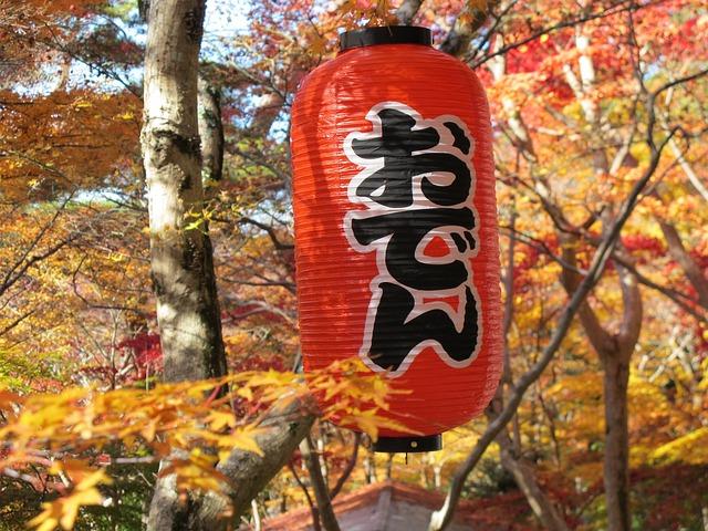 Paper Lantern, Oden, Autumnal Leaves