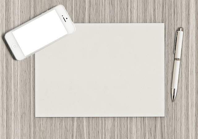 Paper, Pen, Blank, Phone, Mobile, Empty, Mockup