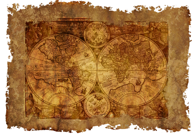 Map Of The World, Old, Historically, Parchment, Paper