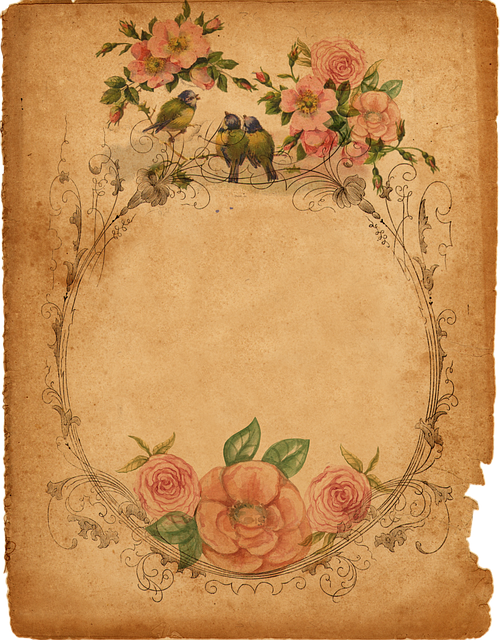 Background, Parchment, Romantic, Paper, Page, Scrapbook