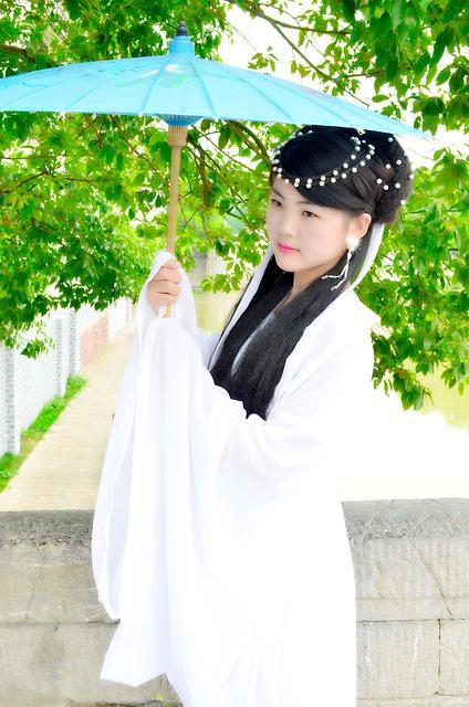 Paper Umbrella, Ancient Costume, Art, The Ancient Town