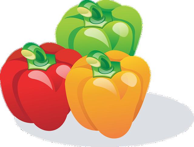 Paprika, Red, Orange, Green, Vegetables, Food