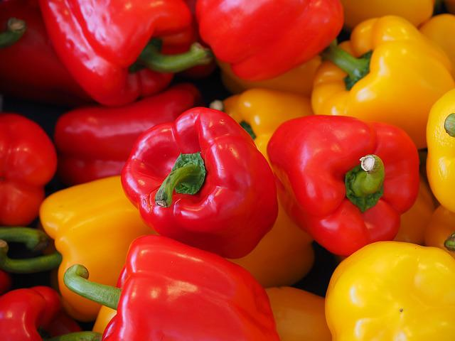 Sweet Peppers, Paprika, Red, Healthy, Vitamins, Pepper