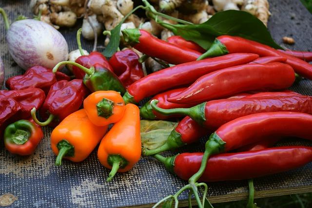 Food, Spice, Vegetables, Paprika, Cook, Chili, Hot