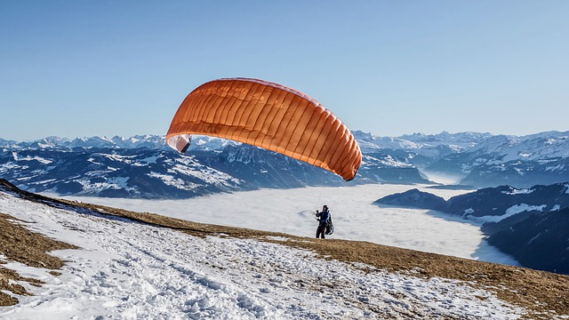Paraglider, Paragliding, Flying, Freedom, Leisure