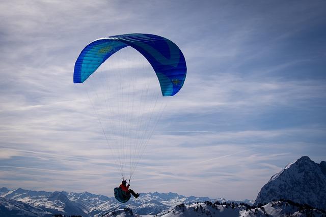 Paragliding, Paraglider, Sky, Alpine, Mountains, Sport