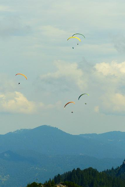 Paraglider, Thermals, Paragliding, Flying, Freedom