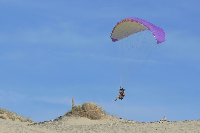 Paragliding, Sand, Nature, Summer, Blue Sky, Outdoor