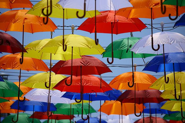 Umbrellas, Colorful, Arts, Parasols, Colorful Umbrellas