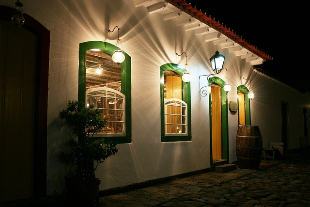 Paraty, Facade, Lamps, Colonial Architecture
