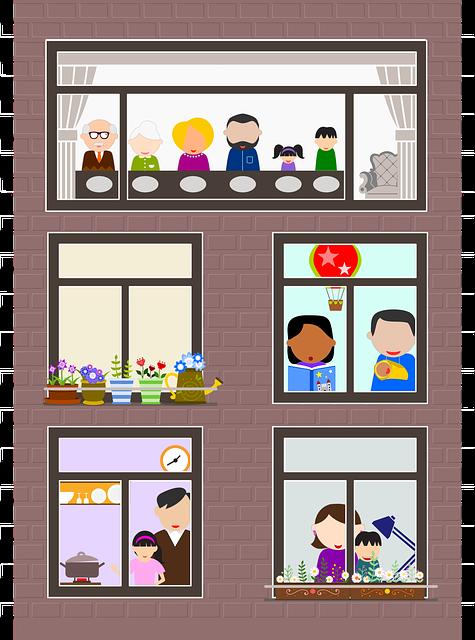 Family, Families, Parents And Children, Building
