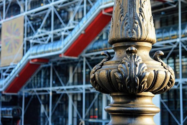 Center Pompidou, Paris, France, Architecture, Facade