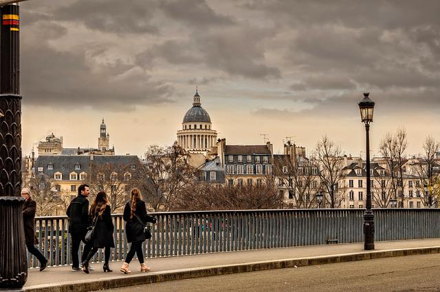Paris, City, Panorama, Seine, Bridge, Fall, Notre-dame
