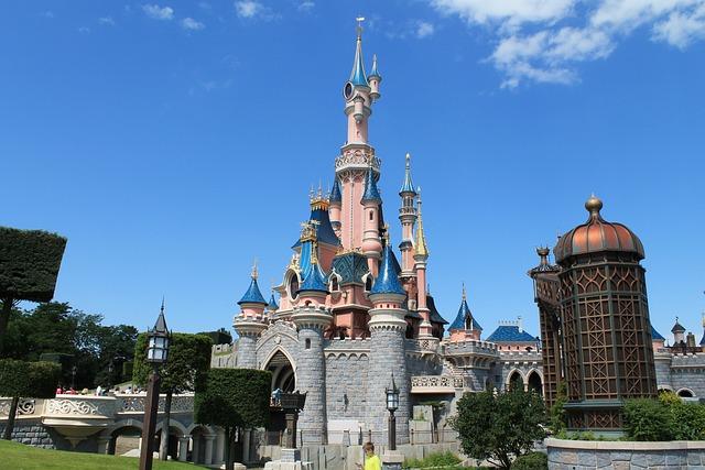 Castle, Disneyland, Paris, Tinkerbell, Roof, Attraction