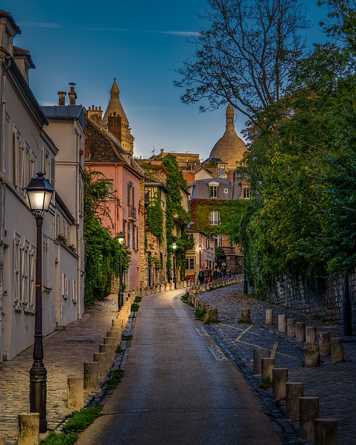 Paris, Montmartre, France, City, Travel, Night, Street