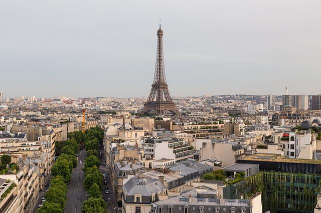 Paris, Eiffel Tower, The View From The Arc De Triomphe