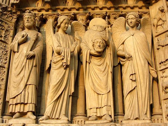 Notre Dame, Paris, Facade, Notre Dame De Chartres