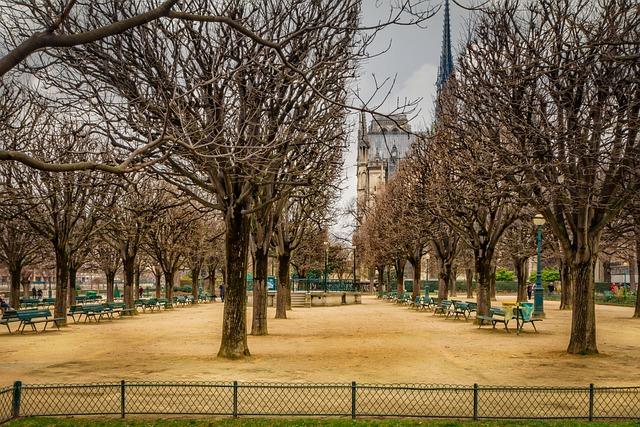 Paris, Garden, Fall