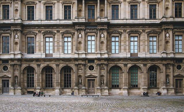 Paris, Louvre, France, Facade, Architecture, Museum