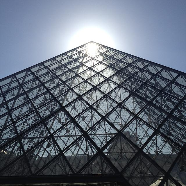 Paris, Pyramid, Louvre
