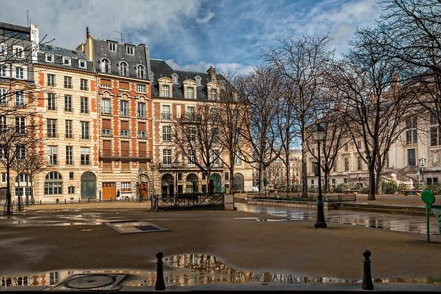 Paris, Tourism, Architecture, Seine, Place Dauphine