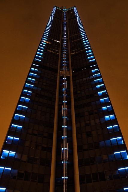 Paris, Montparnasse, Tower, Hochaus, Night
