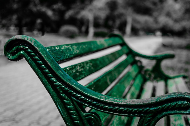 Park Bench, Sitting, Seat, Wooden, Abandoned, Wood