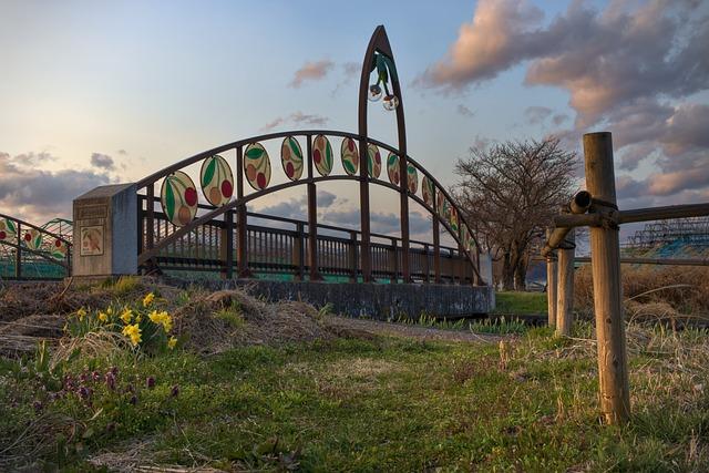 Bridge, Park, Spring, Flowers, Nature, Landscape, Trees