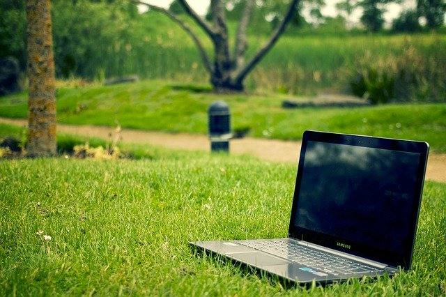 Notebook, Laptop, Work, Pc, Computer, Outdoors, Park