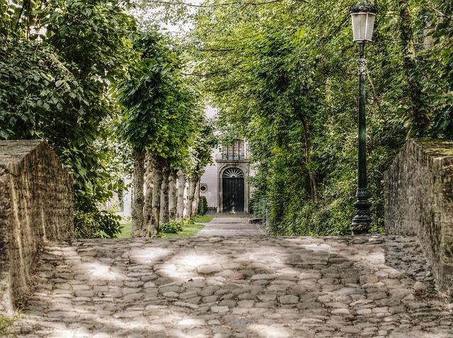 Bruges, Park, Avenue, Stone Bridge, Picturesque, Garden