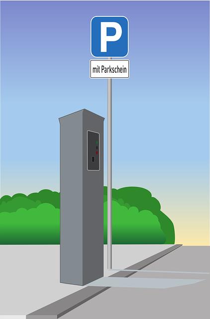 Park Machine, Road, Park, Parking, Traffic, Shield