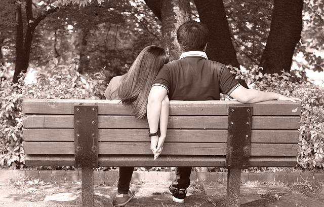 Lovers, Bench, Wood Bench, Park, Roost, Chair, Man