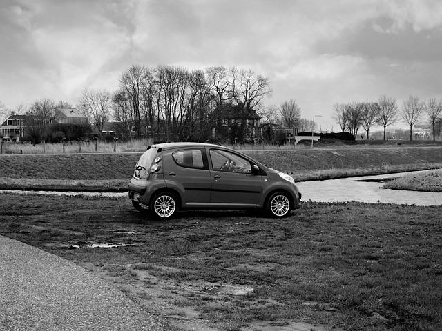 Car, Automobile, Vehicle, Transportation, Parked, Road