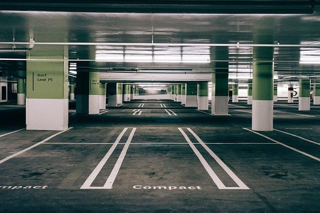 Parking, Space, Asphalt, Urban, Empty, Traffic, City