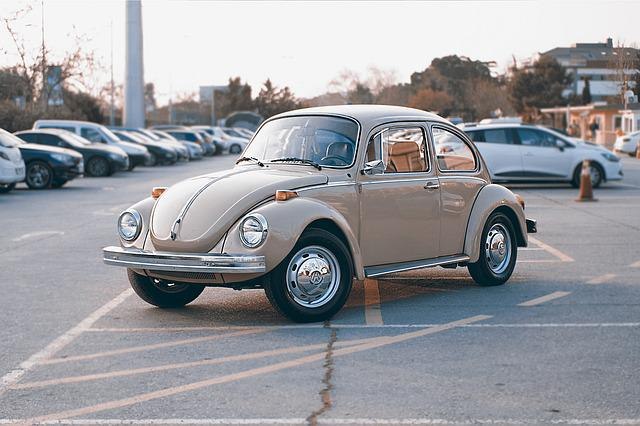 City, Car, Vehicle, Vintage, Parking, Beetle
