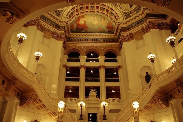 Usa, Pennsylvania, Harrisburg, Parliament, Vaults