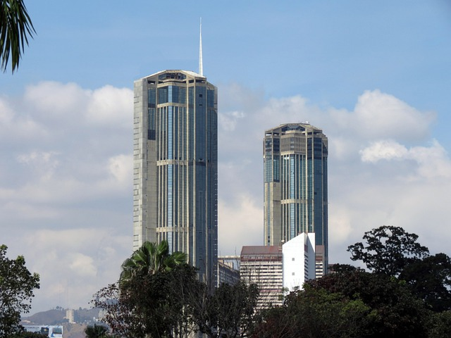 Parque, Central, Caracas, Venezuela, Torres, Gemelas