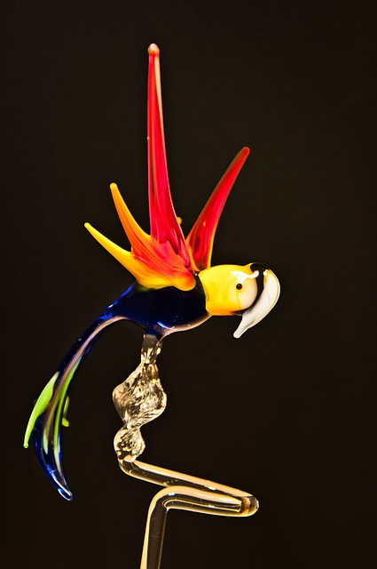 Parrot, Glass, Arts Crafts, Glass Blower, Turn