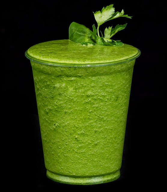 Smoothie Drink, Parsley, Kiwi, Spinach, Beverage, Detox