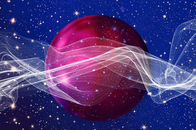Background, Christmas, Ball, Particles, Wave, Lines