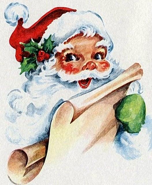 Noel, Santa Claus, Christmas, Parties, Vintage