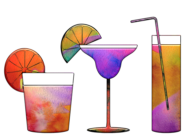 Cocktail, Watercolor, Beer, Alcohol, Party, Juice