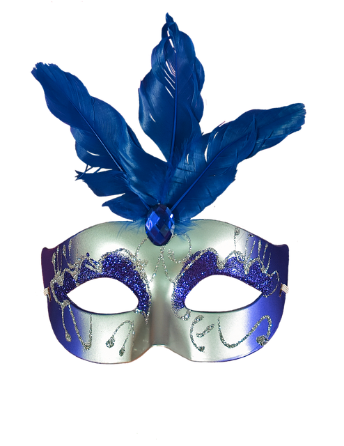 Blue, Carnival, Mask, Masquerade, Party, Colorful