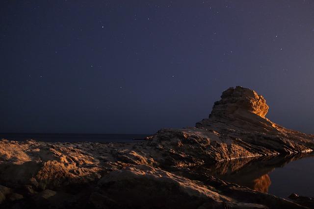 Ancon, Passetto, Italy, Brands, Sea, Night, Landscape