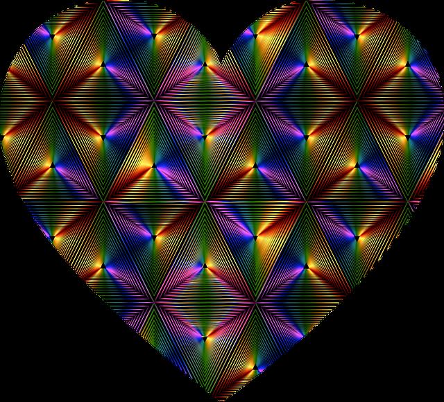 free photo love hearts valentine arts and crafts rainbow