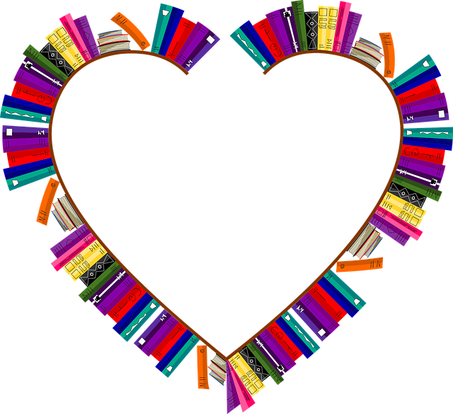 Bookshelves, Frame, Heart, Love, Passion, Valentines