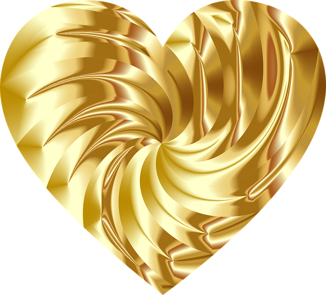 Heart, Love, Passion, Gold, Romance, Abstract