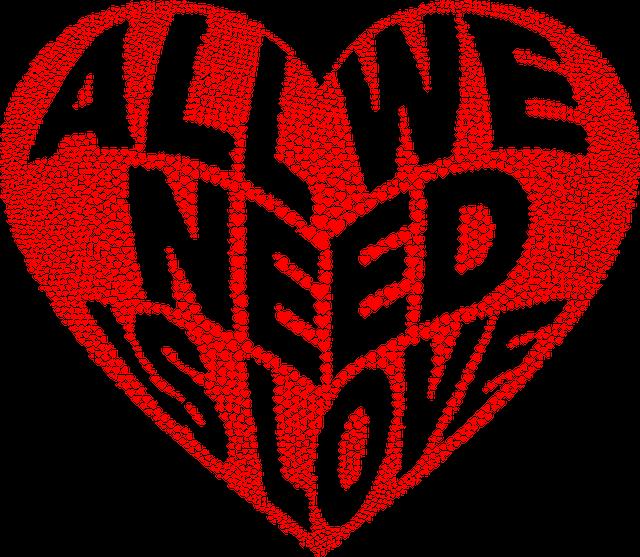 Hearts, Love, Typography, Romance, Passion, Valentine