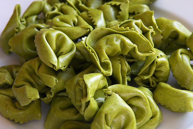 Tortellini, Noodles, Pasta, Italian, Green